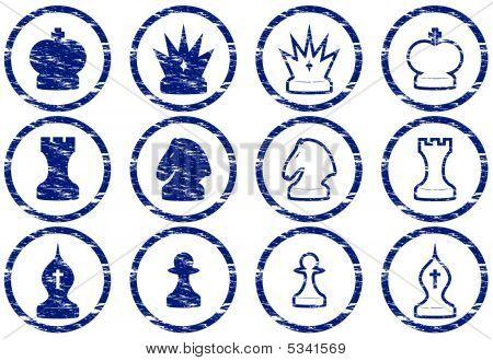 Conjunto de iconos de ajedrez.