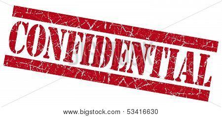 Confidential Red Grunge Stamp