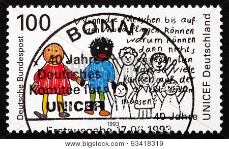 Postage Stamp Germany 1993 Two Children