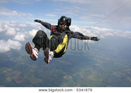 Skydiver In A Sit Position