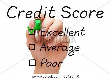 Uitstekende kredietwaardigheid Score
