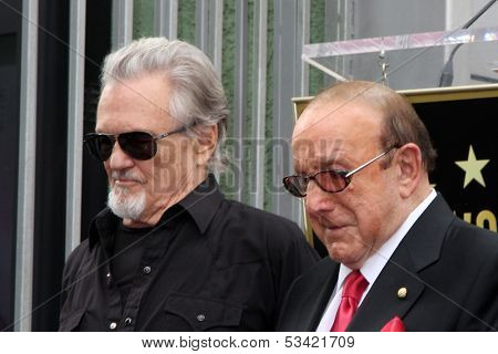 LOS ANGELES - NOV 4:  Kris Kristofferson, Clive Davis at the Janis Joplin Hollywood Walk of Fame Star Ceremony at Hollywood Blvd on November 4, 2013 in Los Angeles, CA