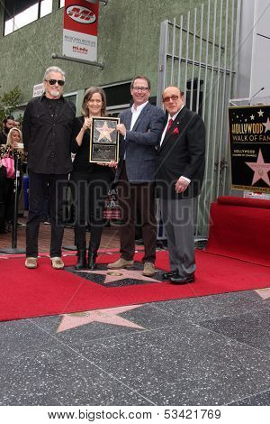 LOS ANGELES - NOV 4:  Kris Kristofferson, Laura Joplin, Michael Joplin, Clive Davis at the Janis Joplin Hollywood Walk of Fame Star Ceremony at Hollywood Blvd on November 4, 2013 in Los Angeles, CA