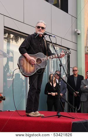 LOS ANGELES - NOV 4:  Kris Kristofferson at the Janis Joplin Hollywood Walk of Fame Star Ceremony at Hollywood Blvd on November 4, 2013 in Los Angeles, CA
