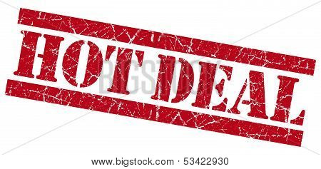 Hot Deal Red Grunge Stamp