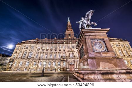 Christiansborg Palace in Copenhagen, Denmark.