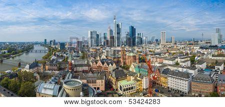 Panorama of Frankfurt, Germany.