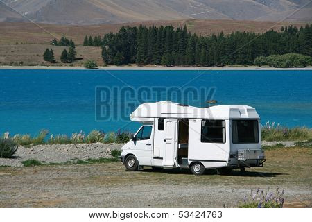 Motorhome At The Lake