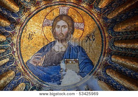 Mosaic in the Church of the Holy Saviour in Chora