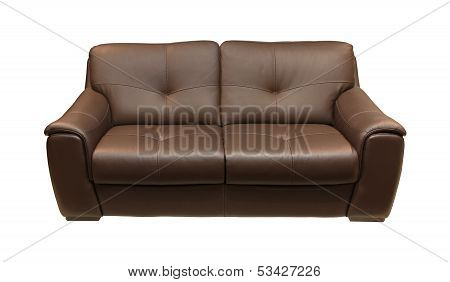 Leather Couch Brown