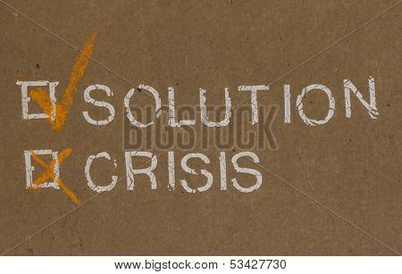 Solution vs crisis, Concept of Success