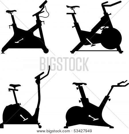 Stationary bicycle icons