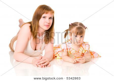 Mother With Two Years Daughter