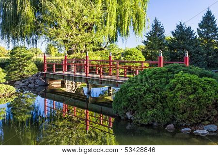 Decorative Red Bridge