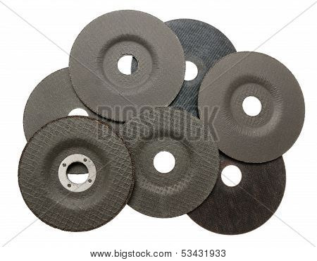 Several Abrasive Discs For Metal Cutting