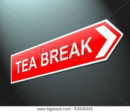 Tea Break Concept.