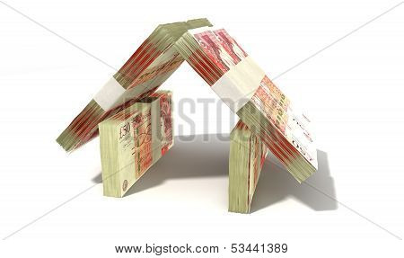 British Pound Notes House Perspective