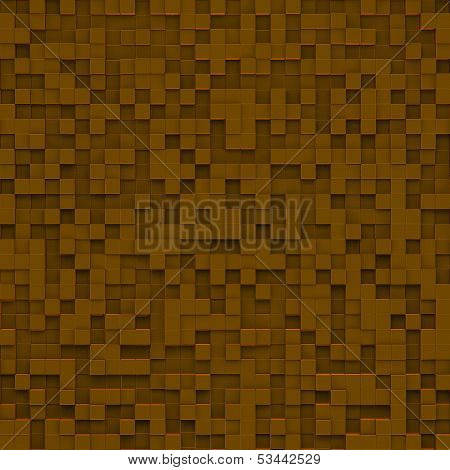Brown Abstract Image Of Cubes Background