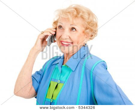 Cheerful Senior Woman On Cellphone