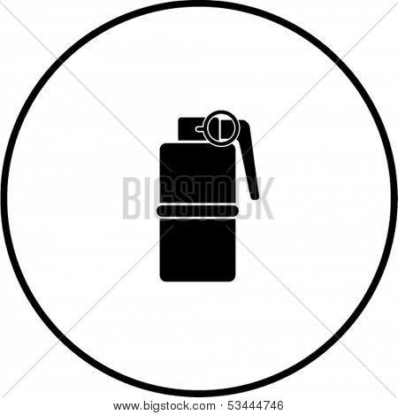 hand grenade explosive symbol