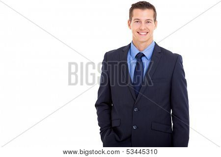 portrait of handsome young business executive