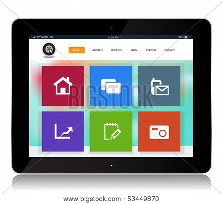 Tablet Internet Website