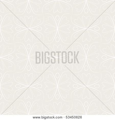 seamless vector linear pattern, floral motifs