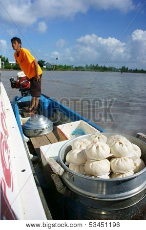 Food Vendor On Water