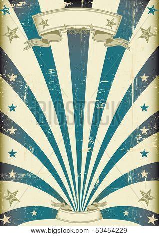 circus blue beams vintage poster. A vintage poster for your advertising.