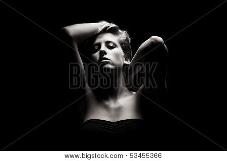 Gorgeous Woman In Tense Light
