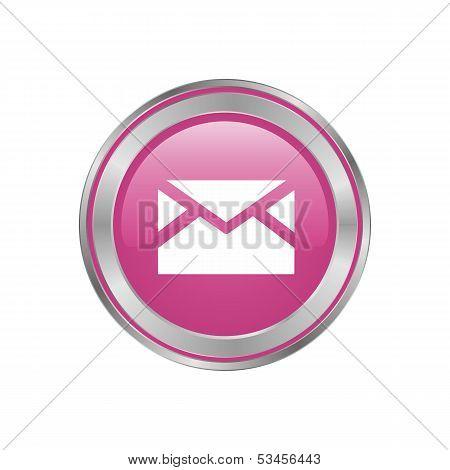 Beautiful Pink Button-mail