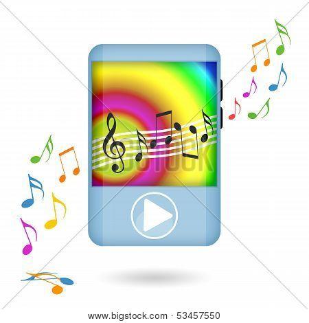 Dancing music player