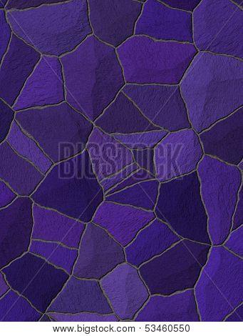 Violet Trencadis Broken Tiles Mosaic