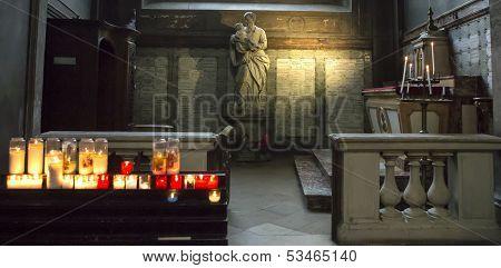 Saint Sulpice church, interiors, Paris, France