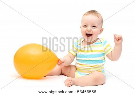 Happy Baby With Balloon