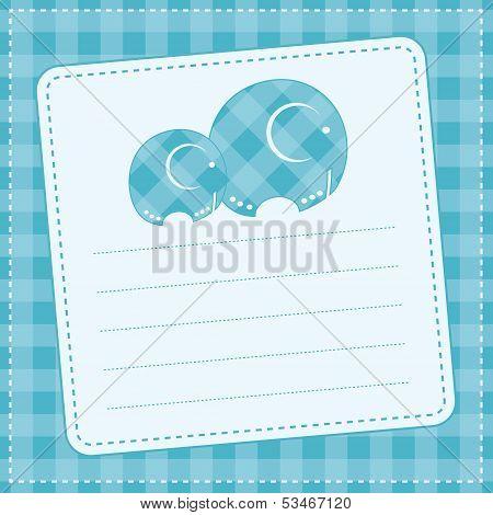 Baby boy  announcement card. Vector illustration
