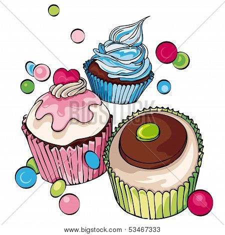 Cupcakes And Muffins Background
