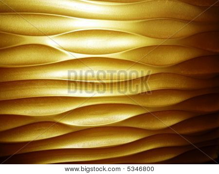 A golden yellowish wood panel on wall