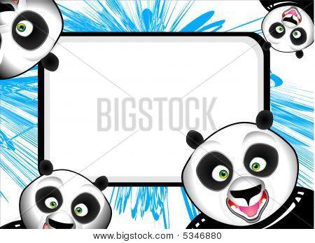 lustige Panda-frame