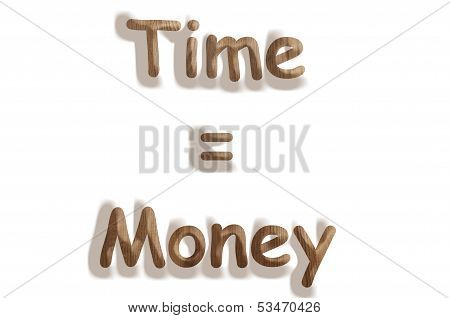 Time equal money