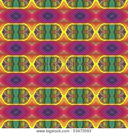 70s vector psychedelic pattern with stripes