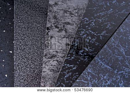 black pvc plastic cladding panel samples