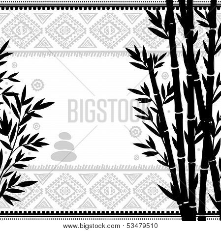 Bamboo vintage illustration for your business