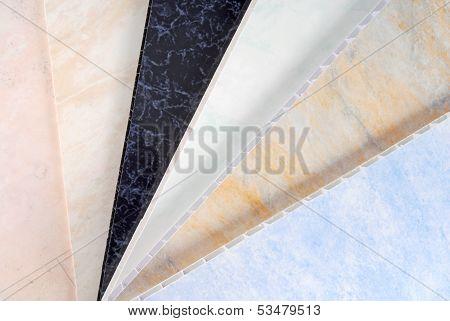 pvc plastic cladding panel samples