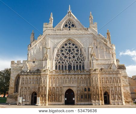 Exeter Cathedral Devon England Uk