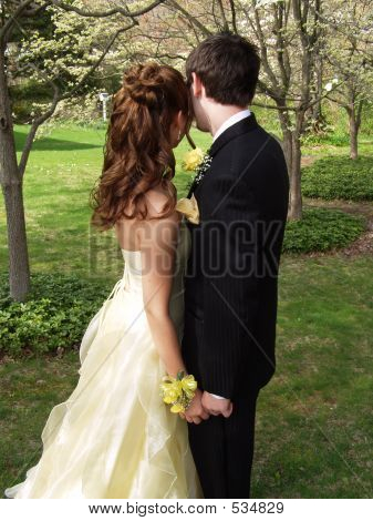 Prom Couple Half Length