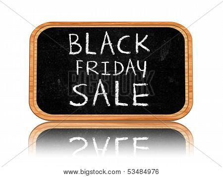 Black Friday Sale On Blackboard Banner