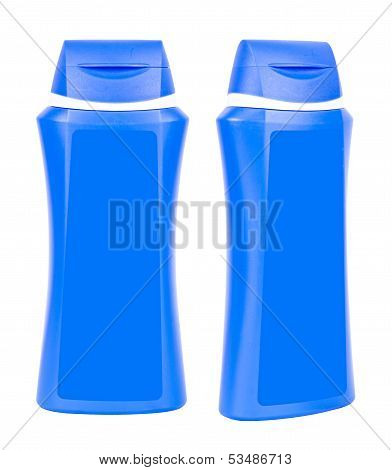 Shampoo Blue Containers Isolated