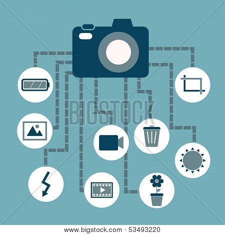 Photography Concept Idea In Flat Style