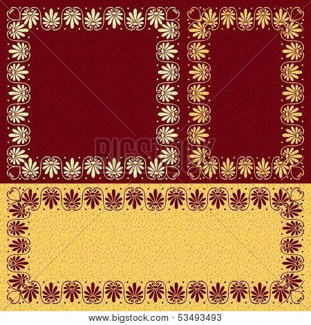 Vector Florall Gold Greek Ornament (meander)